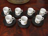 Vintage MYOTT of England coffee cup set. These were a