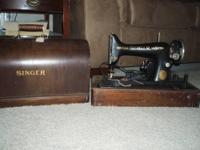 Vintage National Sewing Machine with original matching