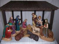 Vintage Nativity set by G Ruggeri Italian sculptor,
