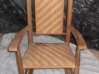 Antique all organic wicker rocker hardly utilized.