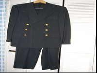 Classic naval air outfit uniform from the 1940s.