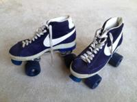 For sale is a pair of Vintage NIKE Blazer Blue Hightops