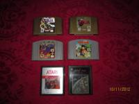 We have (6) Vintage Nintendo 64 and Atari Video Games