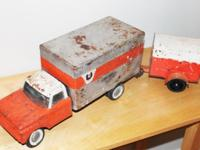 Classic U-Haul truck and trailer produced by Nylint.