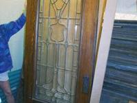 A Lovely Vintage Oak and Beveled Glass Door.