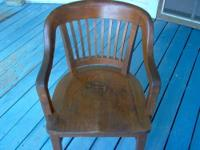Nice vintage oak chair. It is still solid, sturdy and