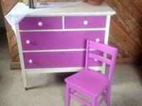 Painted oak dresser in Radiant Orchid & Waxed Includes