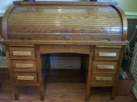 Oak roll top desk - circa 1930's - believed to be from