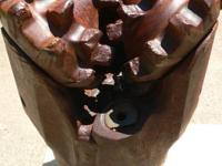 This large, heavy rock drill bit came from the oil