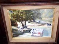 "For Sale is this Very Nice Vintage (1960""s) Oil On"
