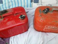 Here are a couple old antique gas cans  one I think is