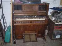 for sale is this very old organ has been in the way in