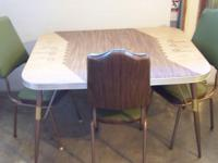 Classic Original 1963 Bronze Chrome Kitchen Table & &