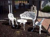 SELLING A BEAUTIFUL VINTAGE ORNATE FOUR PIECE PATIO
