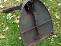 This is a 1950's CAST IRON OUTBOARD MOTOR STAND. The