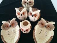 Selling a lot of Vintage Owl Collection Enesco 1970's