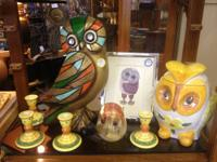 Vintage Owls, Glass, Cookie Jar, More Blown Glass Owl