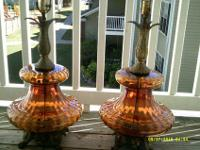 For sale is this pair of oversize, amber, Hollywood