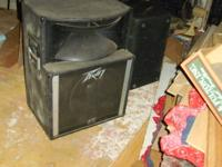 Peavey PA equipment: 2 SP 2 mains, two monitors, 2 amps