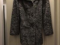 Vintage: Silver Grey Persian Wool ladies coat. With
