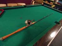 Vintage PFLUGER ROD and REEL Rood is a BLACK MAGIC REEL