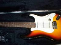 nice pignose strat copy plays great,with case and