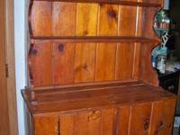 I have for sale a vintage pine hutch! It measures 41""