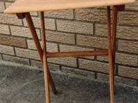 Vintage pine wooden folding table