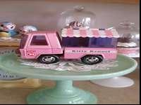This is the cutest pink metal Buddy L truck. It