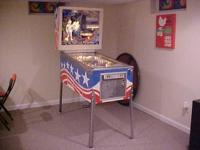 Here is a Vintage 1976 Pioneer Pinball Machine made by