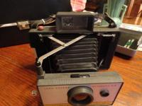 Vintage Polaroid Automatic 215 Land Camera with folding