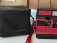 Polaroid red Cool Cam 600 Instant Film Camera.