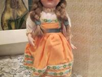 Vintage Porcelain Dolls, on doll stand with Certificate