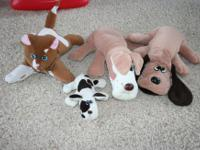 Group of vintage (from the 1980's) pound puppy and