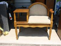 OLDER POWELL TELEPHONE GOSSIP BENCH TABLE--35 INCHES
