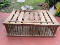 PRIMITIVE WOOD CHICKEN / POULTRY COOP, MADE BY A&P