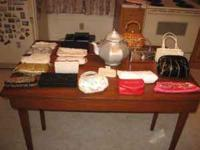 Large collection of purses many beaded, evening bags,