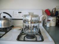Percolator has all parts, stem, basket, cover. It has