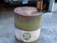 Vintage Quakerstate Oil Drum & 1930s Pump Man Cave