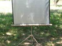 "Radiant ""PictureMaster"" movie/slide projection screen"