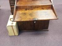 Vintage Railroad Desk (As Pictured) Nice Item! OPEN