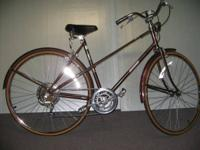 Perfect Raleigh 5 speed, Bronze with custom gold pin
