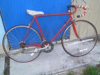 VINTAGE RALEIGH RACING BICYCLE,VERY LIGHT CROMEMOLY