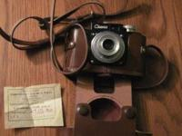 Vintage Rare Cmeha Russian Camera Smena 1, with leather