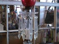 Vintage Red Lamp $28  Come see this and many other