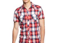 Vintage Red's new plaid shirt features crisp styling