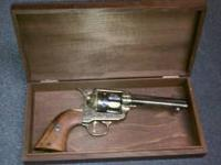 Quality Vintage Replica Revolver with case - wood grip,