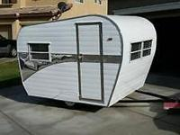 This is a new custom built scaled down vintage trailer