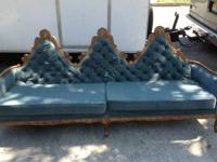 Vintage sofa great style frame has some damage to the