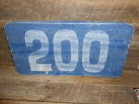 VINTAGE ROADWAY SIGN RARE FIND. INTERSTATE # 200 AND I
